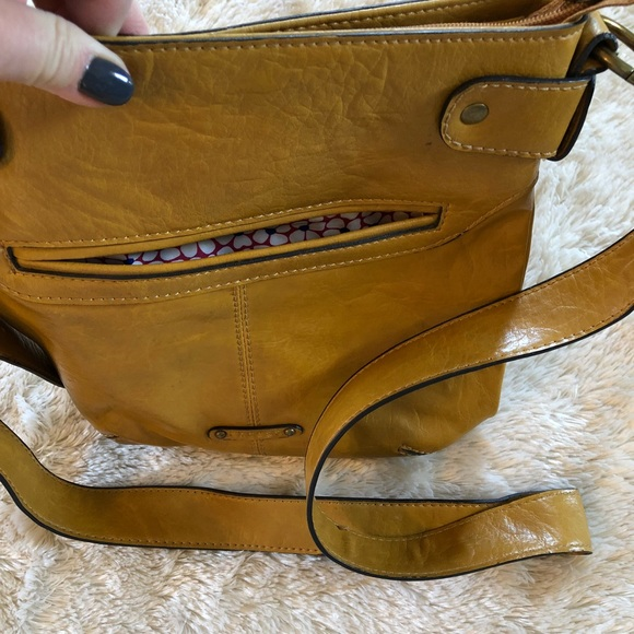 Axcess Handbags - Axcess mustard yellow handbag